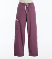 Scrub Med Womens Drawstring Scrub Pants Mauve (ScrubLite) - Original Price $33 - ALL SALES FINAL!