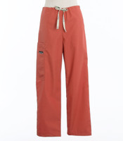 Scrub Med Womens Drawstring Scrub Pants Terracotta - Original Price $33 - ALL SALES FINAL!
