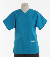 Scrub Med womens cheap scrub top baseball turquoise
