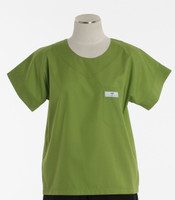 Scrub Med Womens Solid Scrub Top Lime (ScrubLite) - Original Price $28 - ALL SALES FINAL!