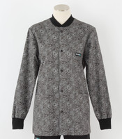 Scrub Med womens crew neck print lab jacket peonies