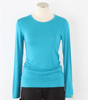 WonderWink Womens Long Sleeve Tee Real Teal