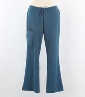 Jockey Womens Caribbean Petite Scrub Pants with Half Elastic, Half Drawstring