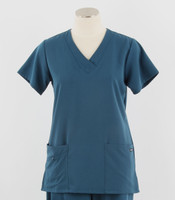 Jockey Womens Caribbean Scrub Top with Soft V-Neck