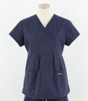 Scrub Med womens Navy maternity scrub top