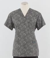 Scrub Med womens v-poc print scrub top peonies