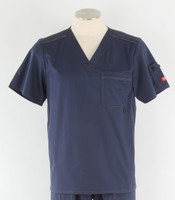 Dickies Gen Flex Mens V-Neck Scrub Top Navy