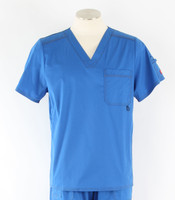 Dickies Gen Flex Mens V-Neck Scrub Top Royal
