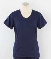 greys anatomy style 41460 womens indigo v-neck scrub top