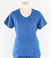 greys anatomy style 41460 womens royal v-neck scrub top