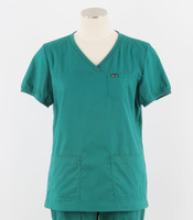 Koi Womens V-Neck Scrub Top Nicole Cut hunter