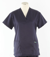 scrub med womens stretch v-neck scrub top indigo