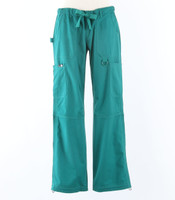 Koi Womens Scrub Pants Lindsey Cut Hunter Petite