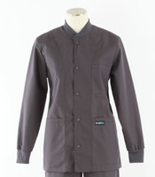 Scrub Med solid charcoal crew neck lab jacket