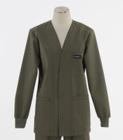 Scrub Med womens v-neck lab jacket on sale moss