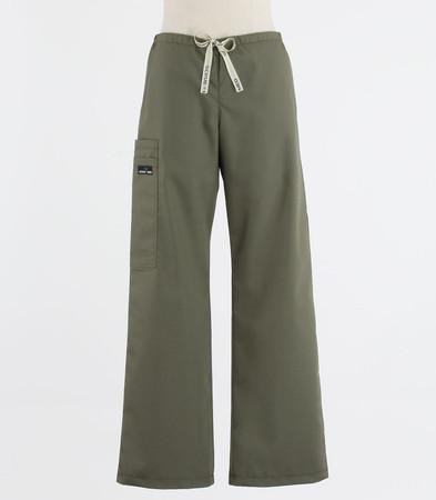 Scrub Med womens low rise, wide leg scrub pants on sale moss