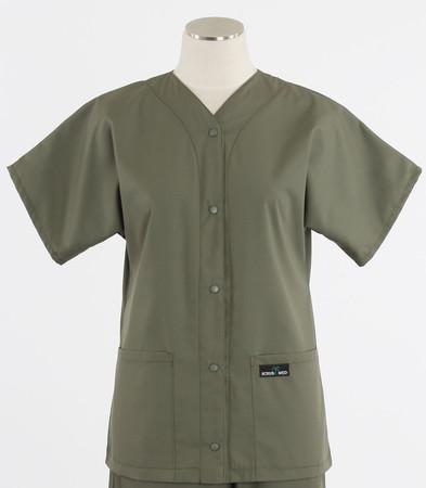 Scrub Med discount womens baseball scrub top moss