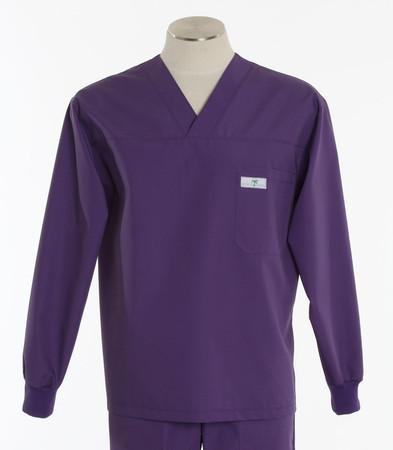 Scrub med mens discount long sleeve scrub top purple