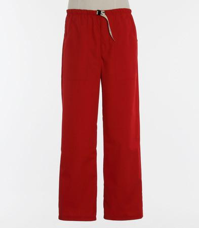 Scrub Med Mens discount Belted zipper red scrub pants