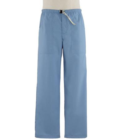 Scrub Med Mens discount Belted zipper celestial blue scrub pants