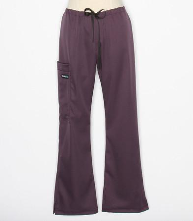 Scrub Med womens flare leg stretch scrub pants plum