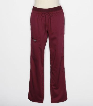 Cherokee Workwear Revolution Womens Wine Cargo Scrub Pants WW105