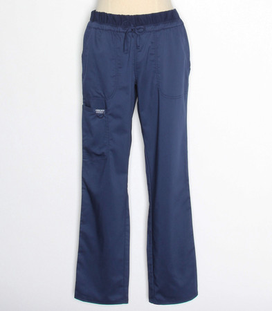 Cherokee Workwear Revolution Womens Tall Navy Cargo Scrub Pants WW105T