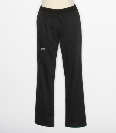 Cherokee Workwear Revolution Womens Tall Black Cargo Scrub Pants WW105T
