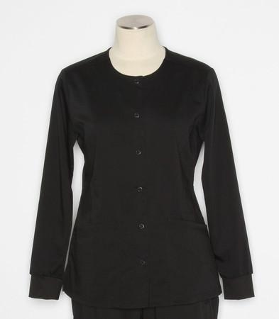 Healing Hands Purple Label Daisy black scrub jacket 5063
