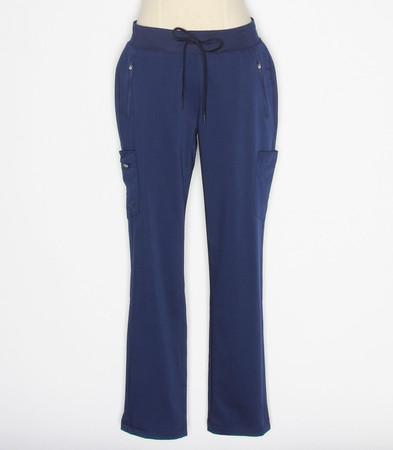 Healing Hands Purple Label Toni Womens Navy Petite Scrub Pants style 9141P