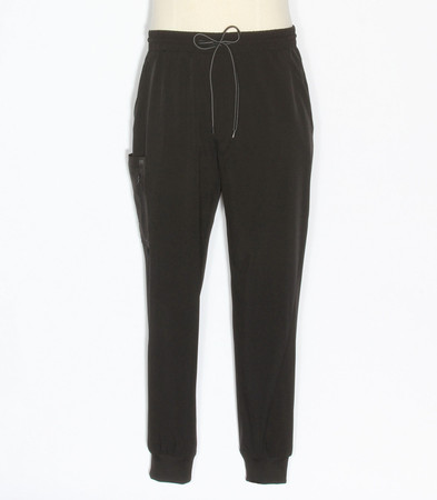 barco one-mens elastic waist cargo jogger style short scrub pants BOP520 black