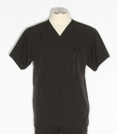 barco one mens amplify scrub top black - style 0115