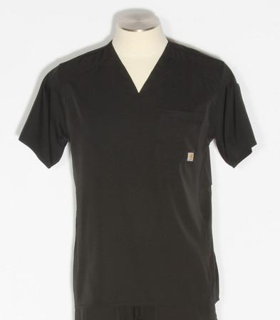 Carhartt Mens Liberty Slim Fit V-Neck Scrub Top C15106 - Black