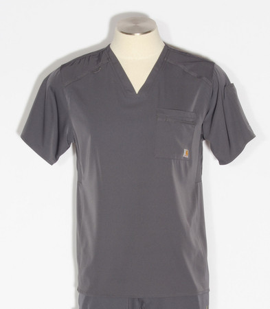 Carhartt Mens Liberty Slim Fit V-Neck Scrub Top C15106 - Pewter