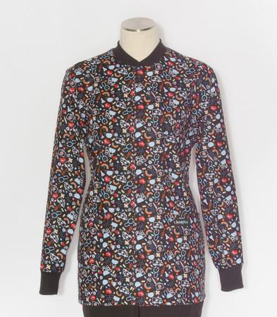 Scrub Med womens print lab jacket We Appreciate You
