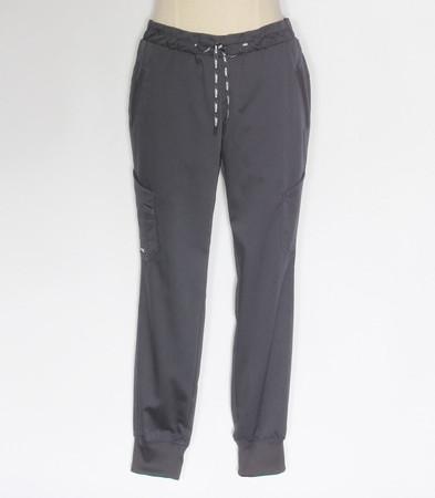 Greys Anatomy Womens Kira jogger style scrub pants petite steel
