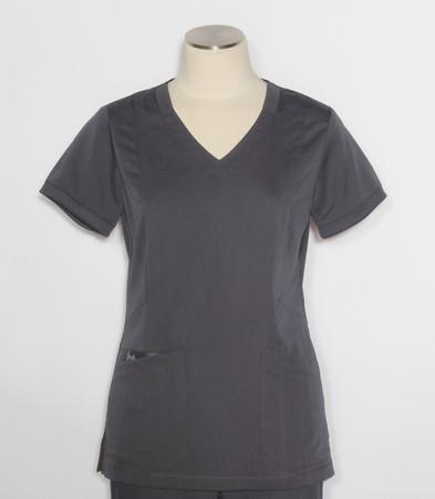greys anatomy kira top style GRT049 womens steel v-neck scrub top