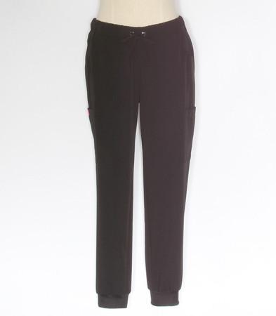 betsey johnson aster jogger style scrub pants black