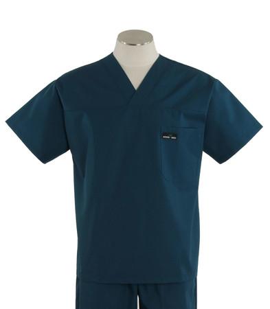 Scrub Med mens v-neck spruce scrub top on sale