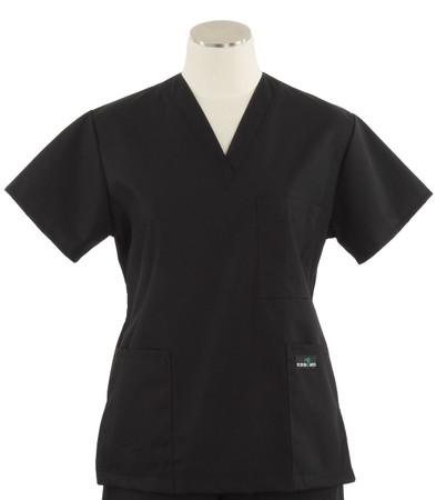 Scrub Med womens v-poc scrub top black