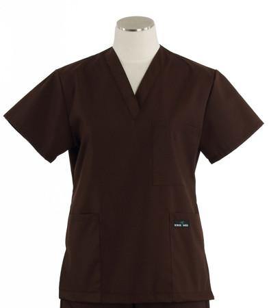 Scrub Med womens v-poc scrub top dark chocolate