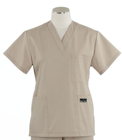 Scrub Med womens v-poc scrub top khaki