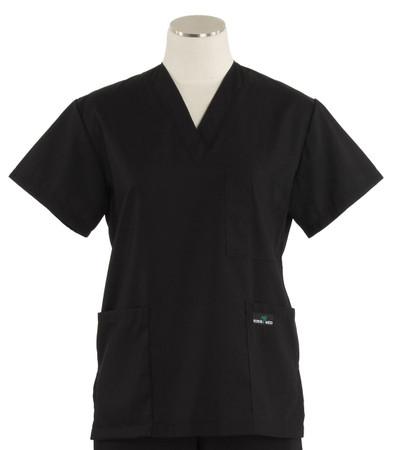 Scrub Med womens v-poc scrub top midnight (scrublite)