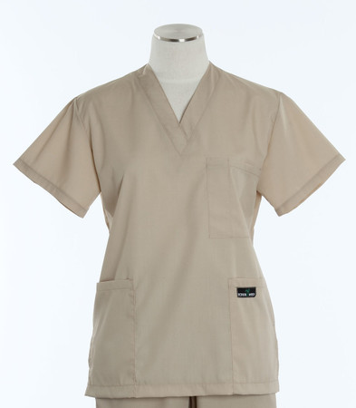 Scrub Med womens v-poc scrub top putty (scrublite)