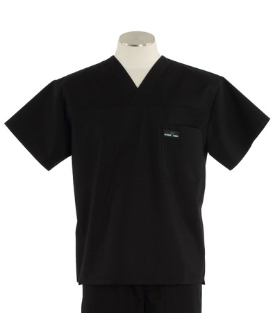 scrub med mens v-neck scrub top black