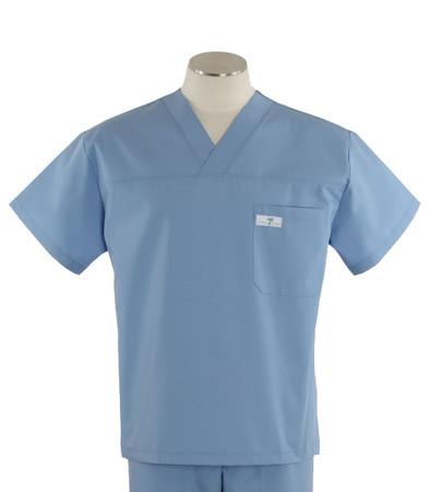 scrub med mens v-neck scrub top celestial blue