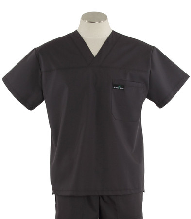 scrub med mens v-neck scrub top charcoal