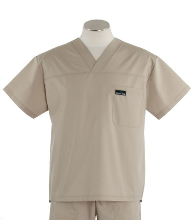 scrub med mens v-neck scrub top khaki