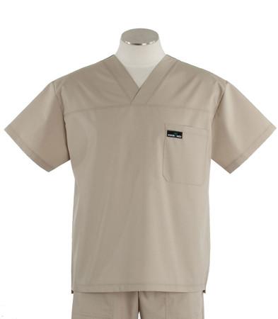 scrub med mens v-neck scrub top khaki