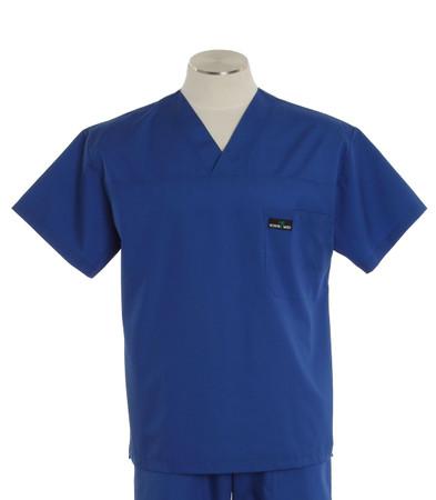 Scrub Med mens v-neck pacific blue scrub top